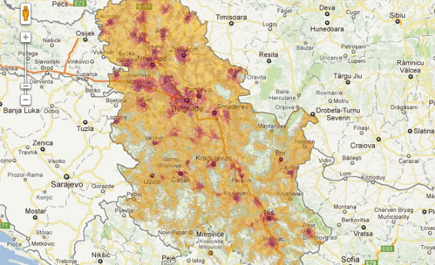 telenor mapa pokrivenosti Nova mapa pokrivenosti Vip signala telenor mapa pokrivenosti
